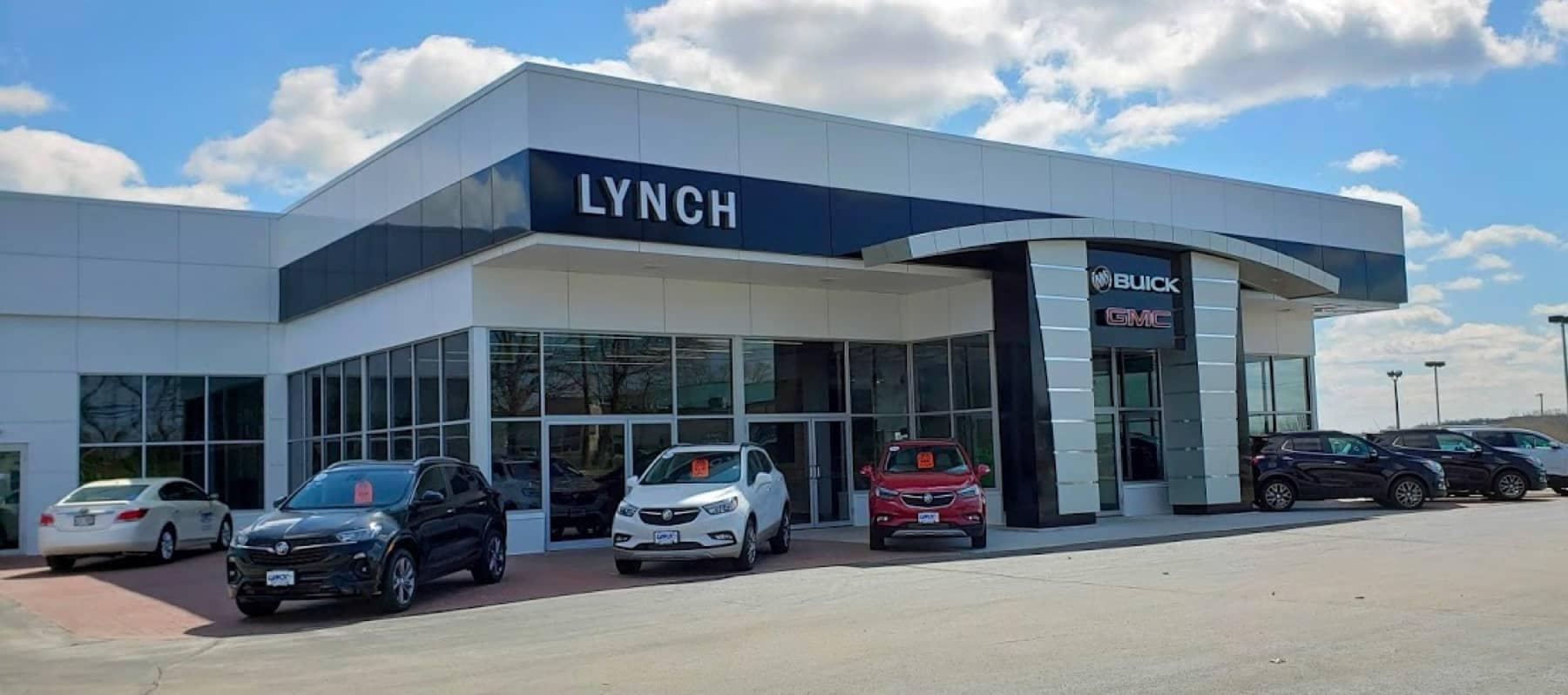 An exterior shot of Lynch Buick GMC of West Bendf dealership.