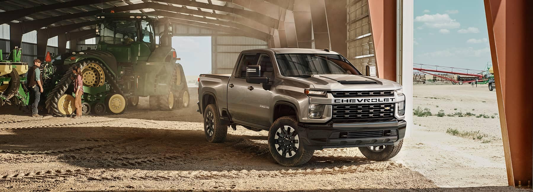 2020 Chevrolet Silverado 2500HD Crew Cab on a Work Site