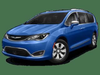 A blue 2019 Chrysler Pacifica Hybrid