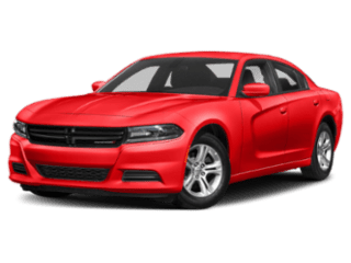 A red 2019 Dodge Charger