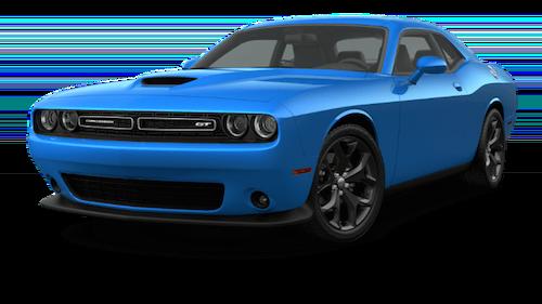 A blue 2019 Dodge Challenger GT
