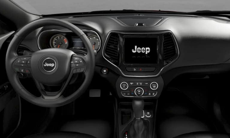The dashboard of the 2019 Jeep Cherokee