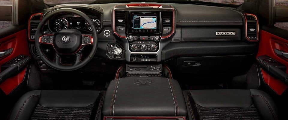 The dashboard in the 2019 Ram 1500 Rebel