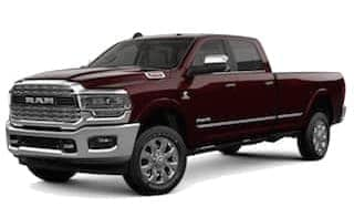 A red 2019 Ram 3500