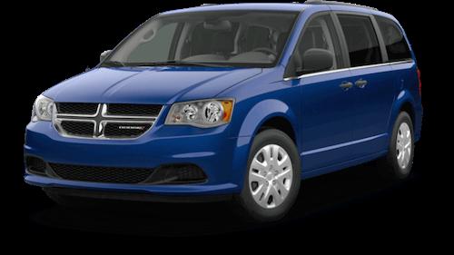 A blue 2019 Dodge Grand Caravan SE