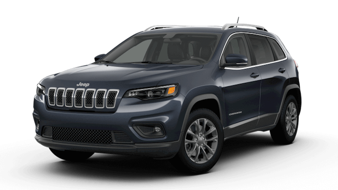 A blue 2019 Jeep Cherokee Latitude Plus