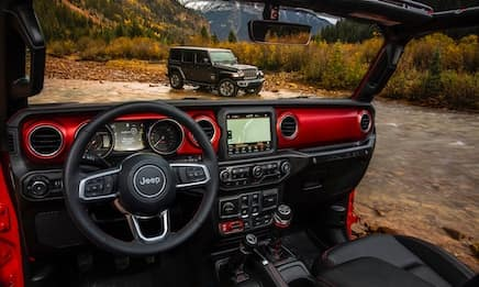 The dashboard of the Jeep Wrangler
