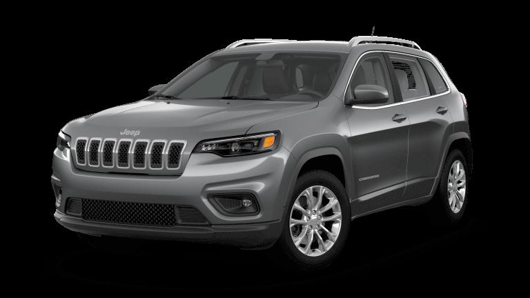 A silver 2019 Jeep Cherokee Latitude
