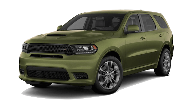 A green 2019 Dodge Durango R/T