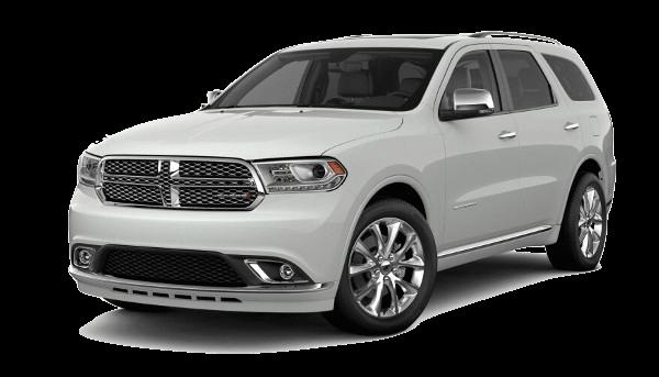A white 2019 Dodge Durango Citadel