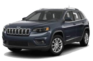 A blue 2019 Jeep Cherokee