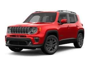 A red 2019 Jeep Renegade