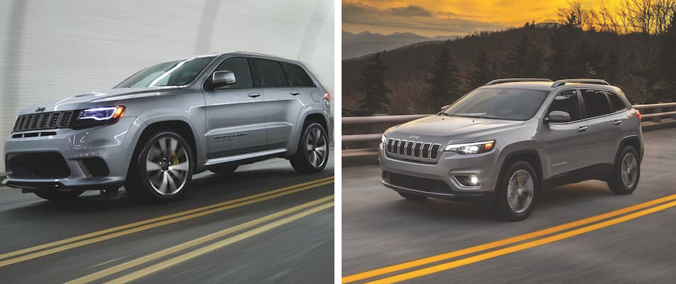 A comparison of a 2019 Jeep Grand Cherokee and Cherokee