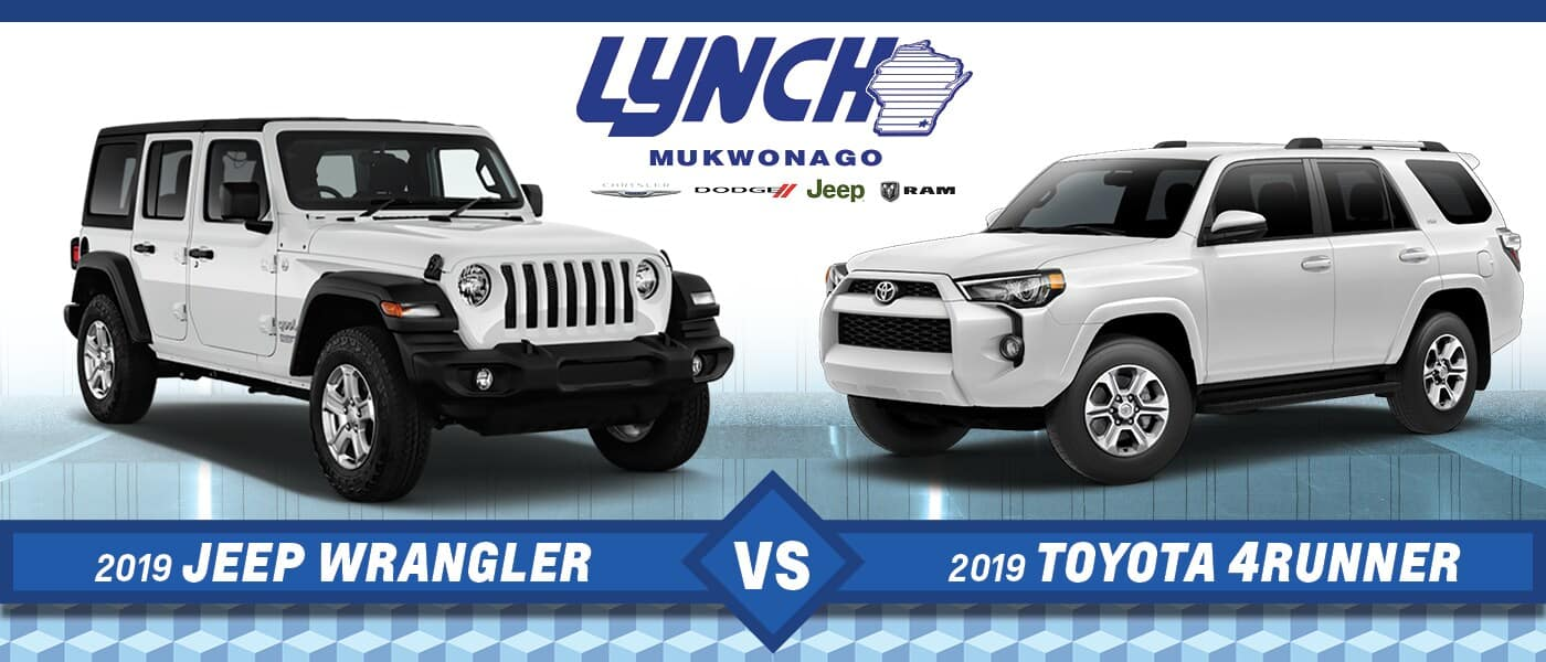 A comparison of the Jeep Wrangler & Toyota 4Runner