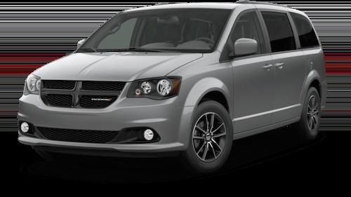 A silver 2019 Dodge Grand Caravan SE Plus