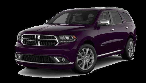 A violet 2019 Dodge Durango Citadel Anodized Platinum