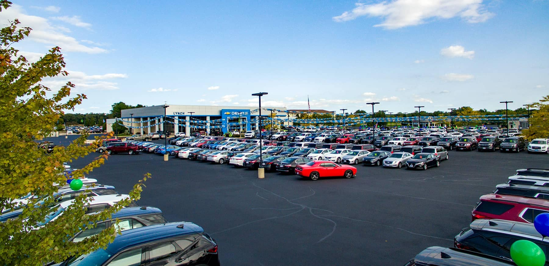 Lynch GM Superstore dealership lot of cars