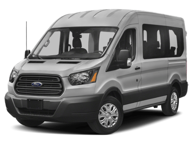 Silver Ford Transit