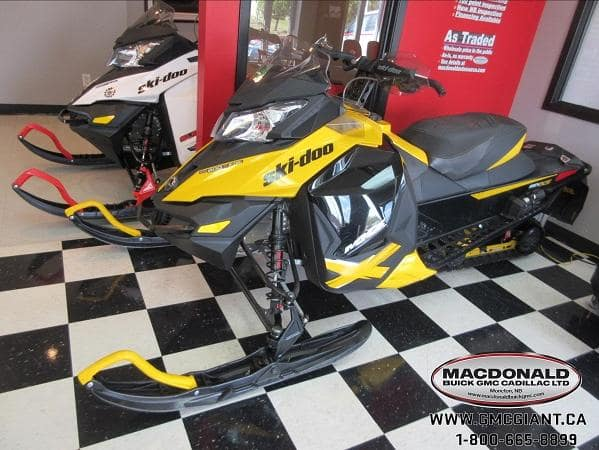 macdonald powersports image - yellow snow mobile