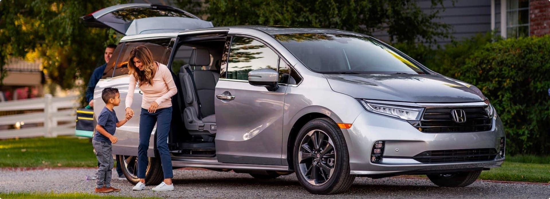 An exterior shot of a Honda.