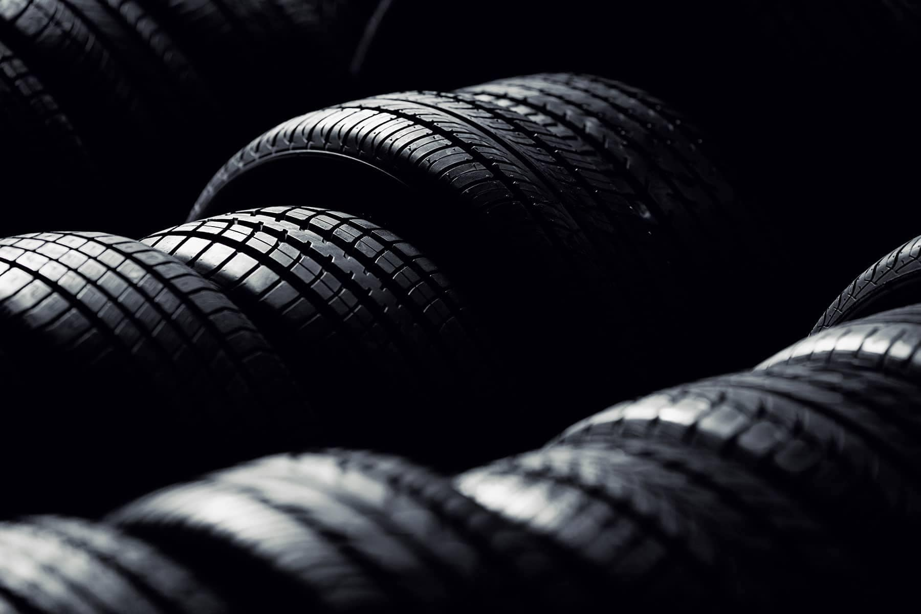 rows of car tires