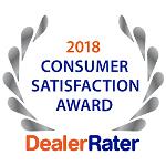 2018 Dealer Rater Consumer Satisfaction Award