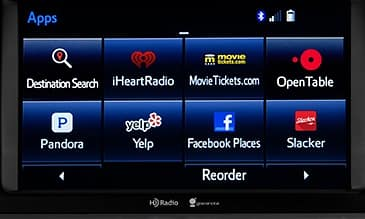 Entune Apps Screen