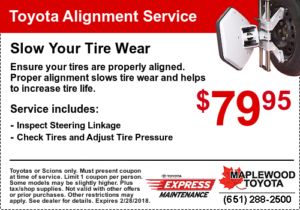 Toyota Alignment Service Coupon