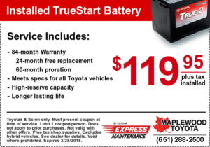 toyota battery service coupon