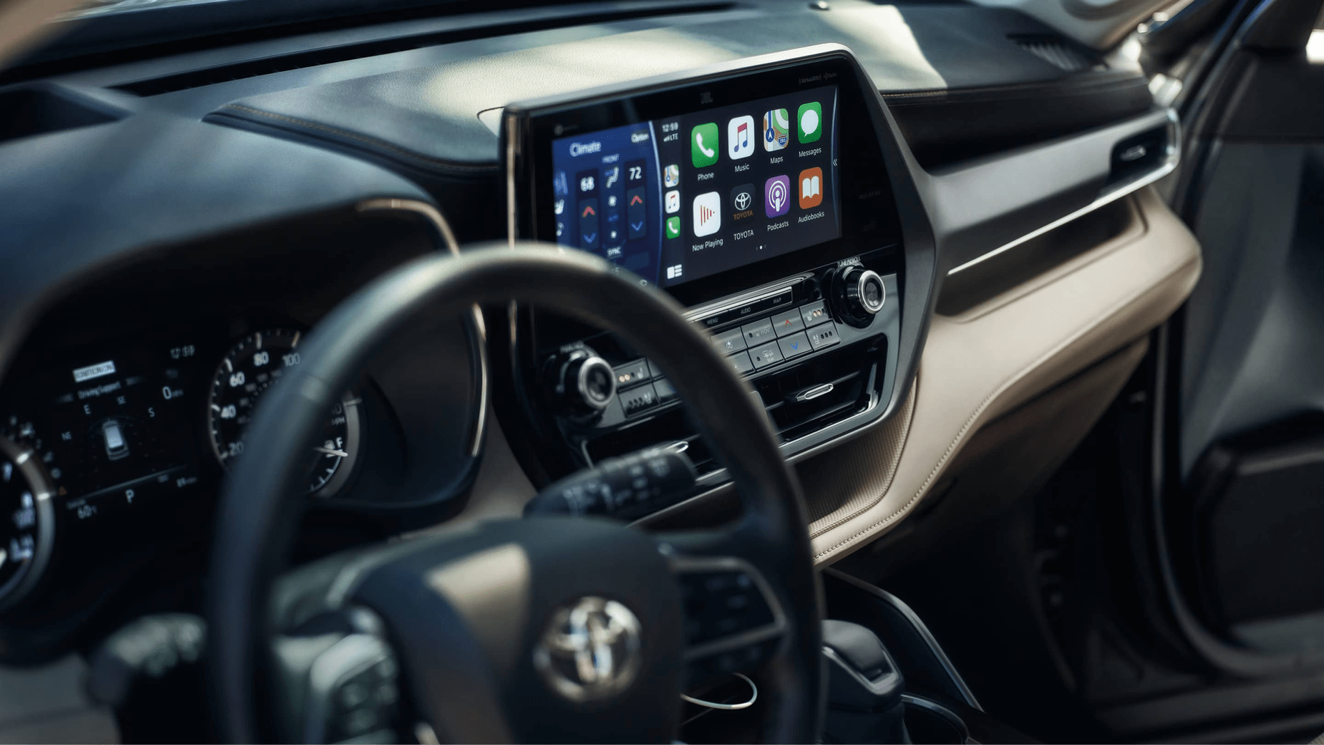 2020 Highlander electronic dashboard
