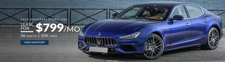 An image of a blue 2019 Maserati Ghibli