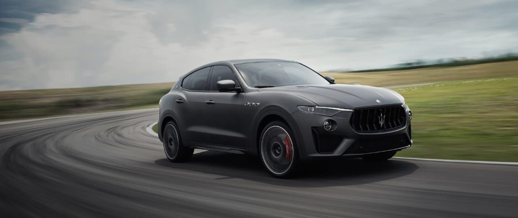 New Maserati SUV on Racetrack