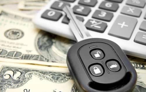 car keys with money