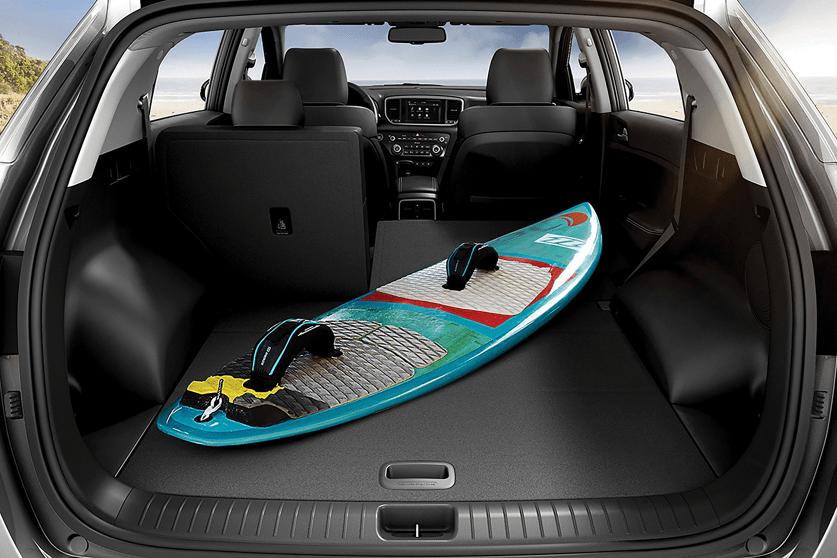 trunk of Kia Sportage