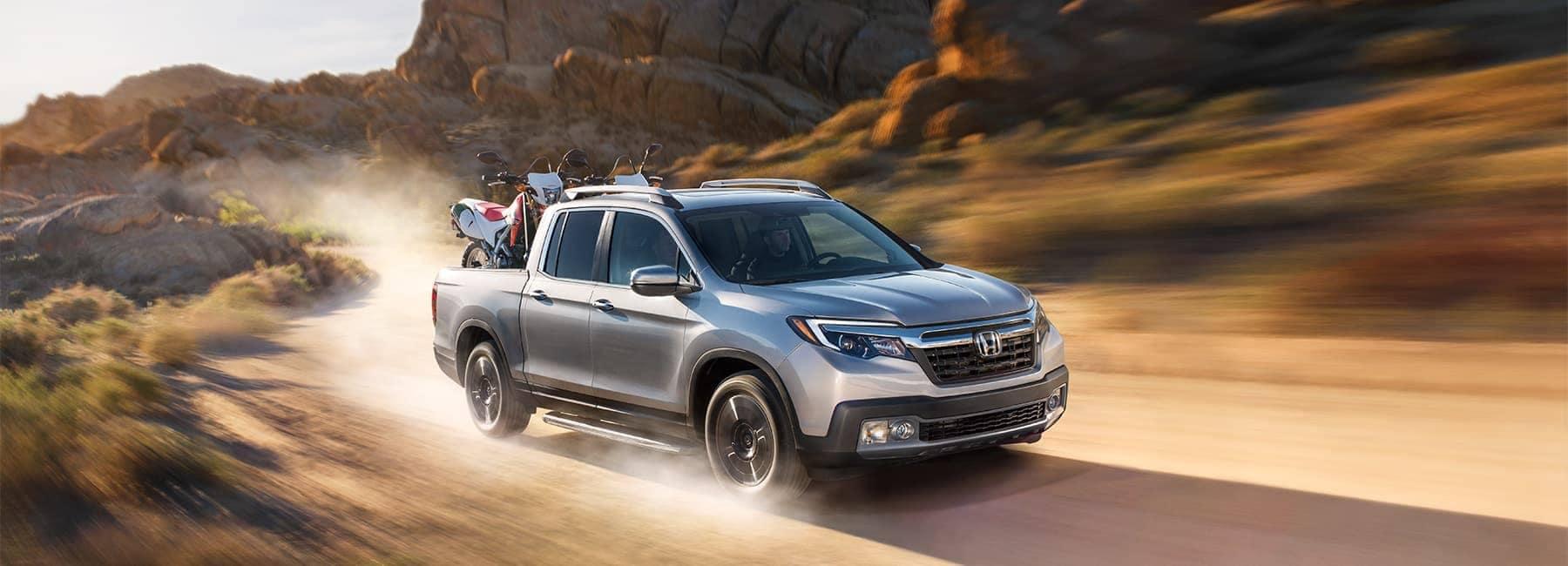 2020-honda-ridgeline-driving on dirt road