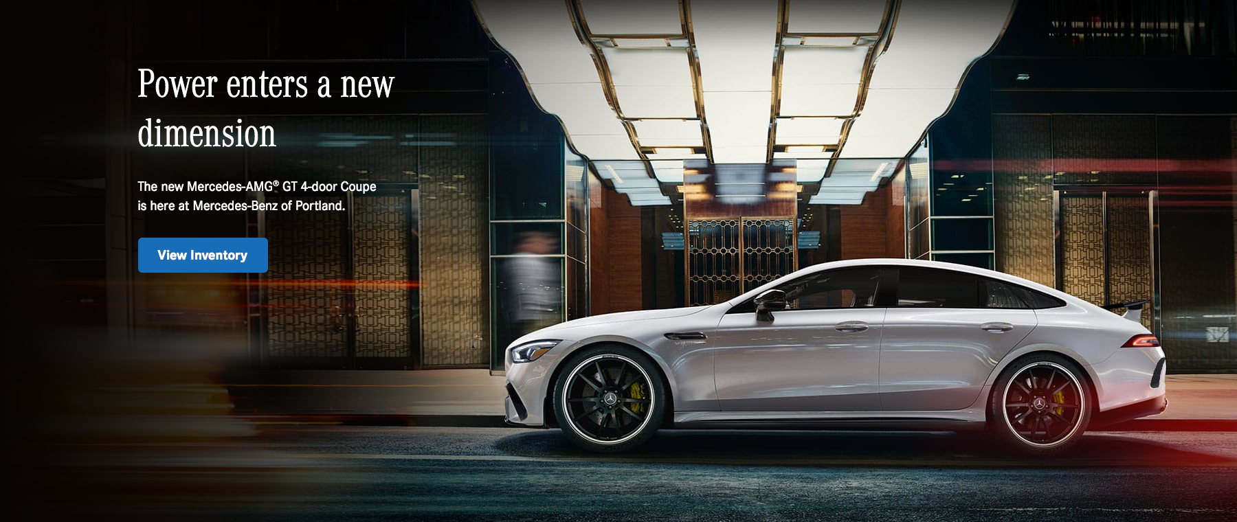 Power enters a new dimension Mercedes-AMG GT