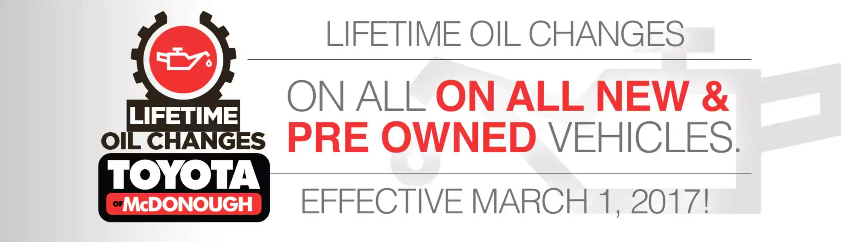 Lifetime Oil Change