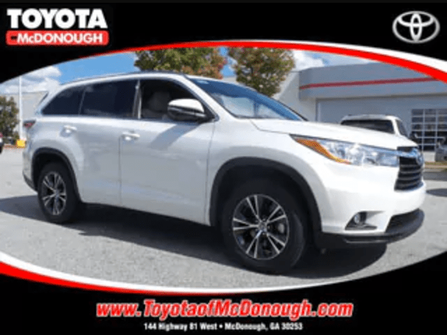 Toyota Highlander XLE Rental