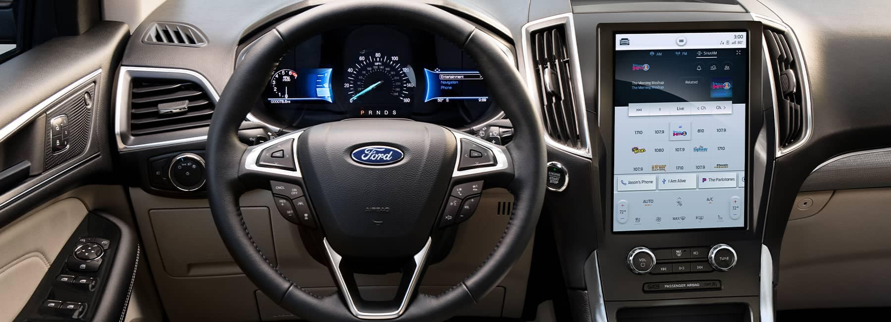 2021 Ford Edge interior dashboard