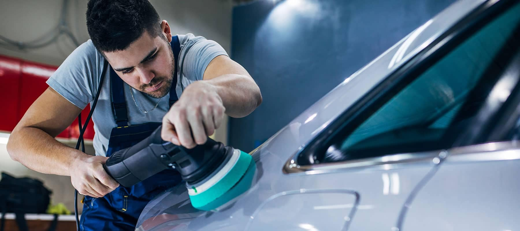 Technician buffing Vehicle Pelham, AL