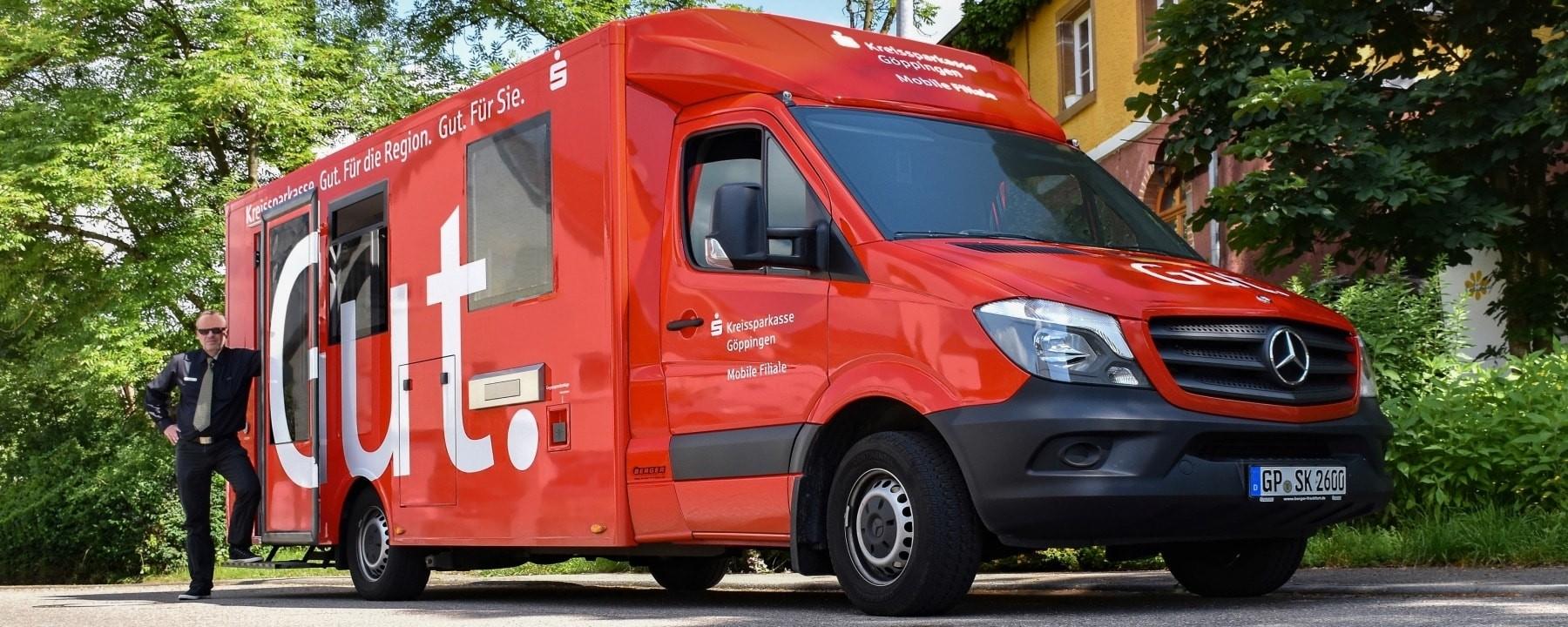 An innovative way to use a sprinter van mobile bank for Mercedes benz of buffalo