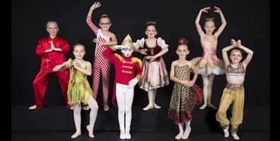children dressed up in nutcracker ballet costumes