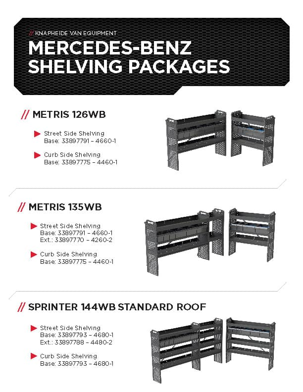 Mercedes-Benz Shelving Packages