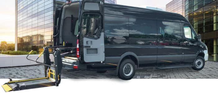 Driverge MERCEDES-BENZ SPRINTER SMARTLINER™ WAV available from Mercedes-Benz Van Center - Baker