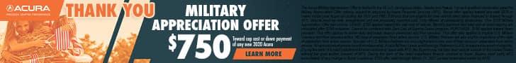 Military Appreciation Offer $750