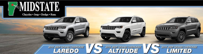 Cherokee Vs Grand Cherokee >> 2018 Jeep Grand Cherokee Trims Laredo Vs Altitude Vs Limited
