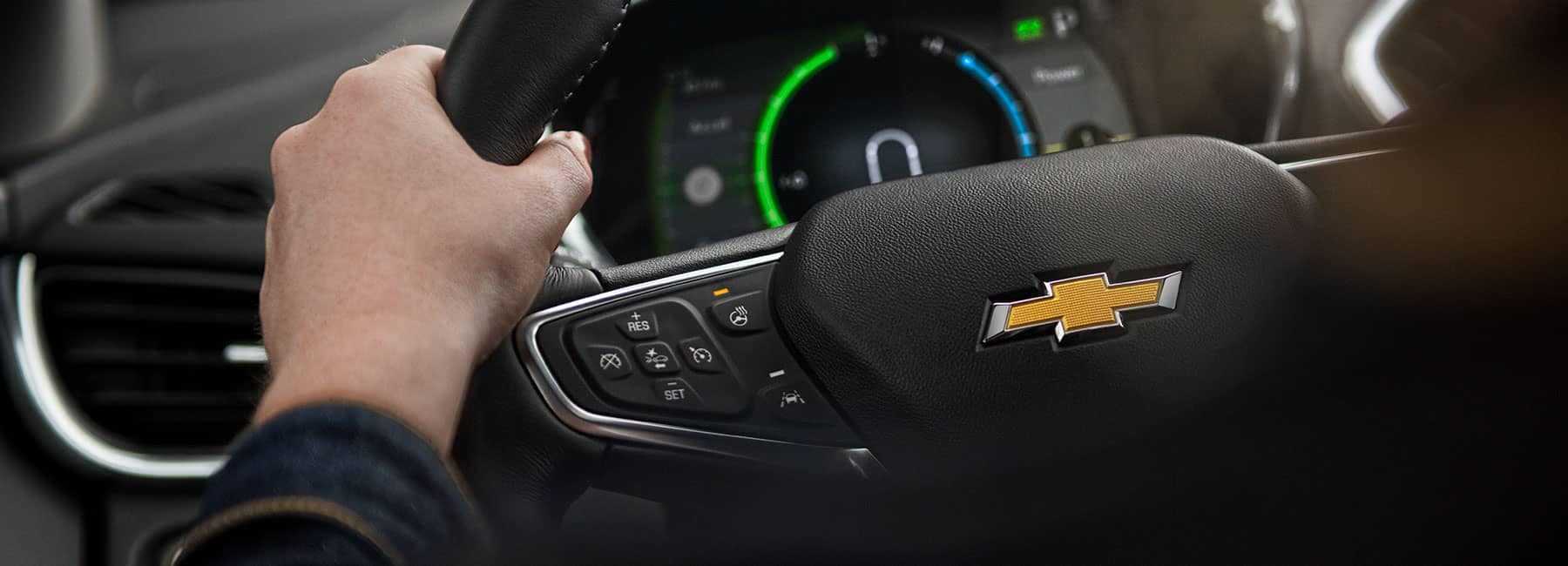 Chevrolet steering wheel and dashboard