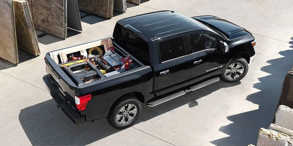 2019 Nissan Titan with the bed full of tools