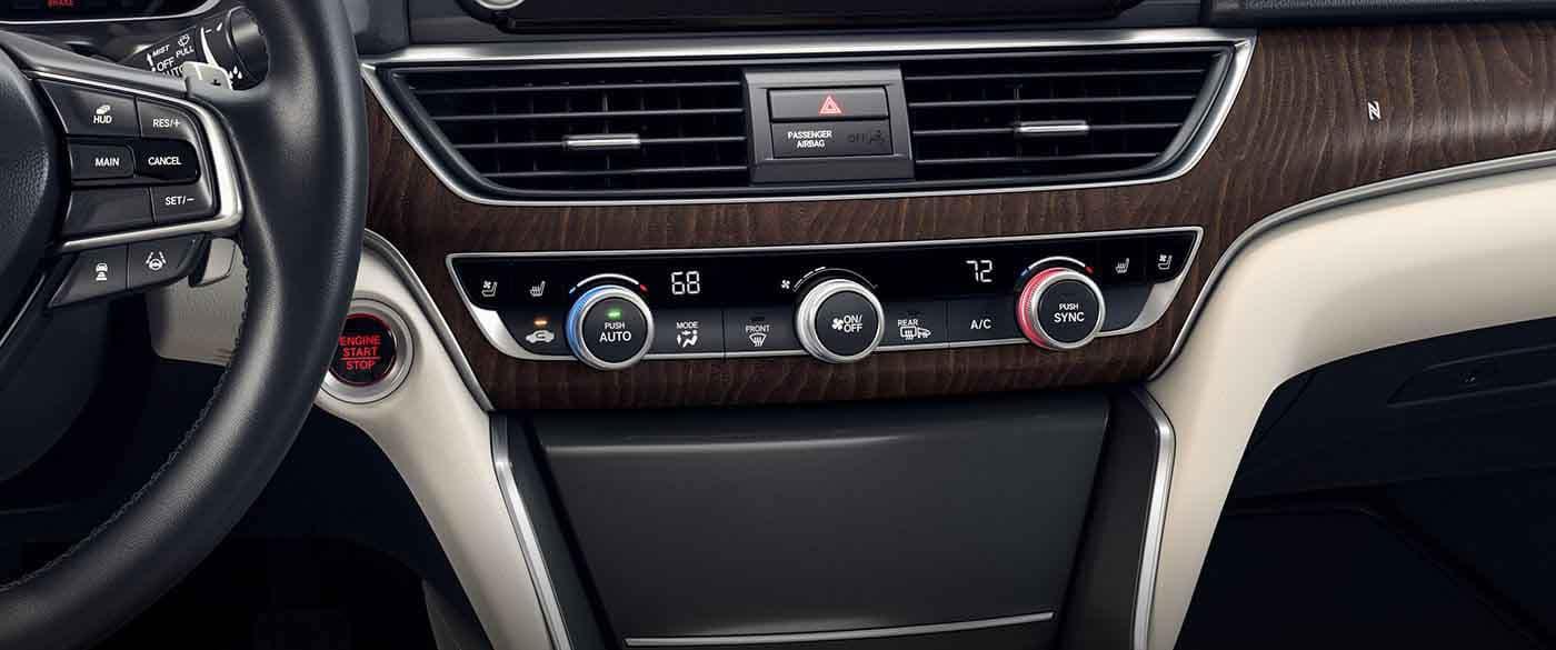 2018 Honda Accord Dual Zone Climate Control