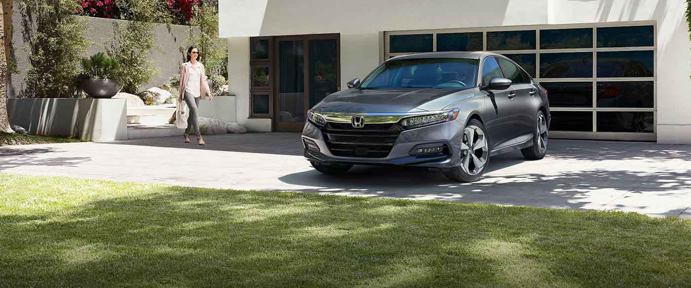 2018 Honda Accord Parked Outside a House